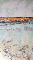 FLOODING SALT LAKE ACRYLIC PAINTING BY GEORGE HAYWARD